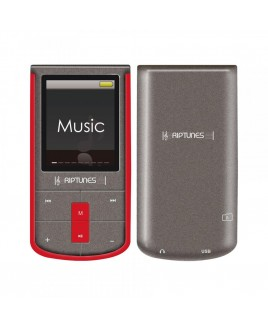 Riptunes 8GB MP3 Player with 1.8-inch LCD and microSD Card Slot, Red