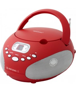 Riptunes AM/FM CD Boombox - Red