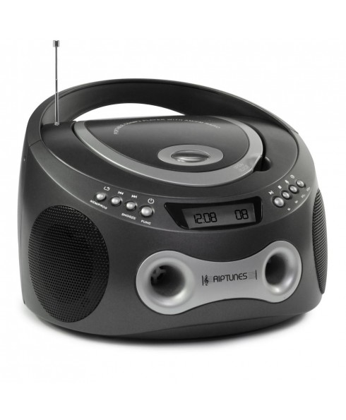 Riptunes Top Loading Prorammable CD/MP3 Boombox - Grey