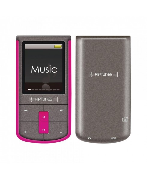 Riptunes 8GB MP3 Player with 1.8-inch LCD and microSD Card Slot, Pink