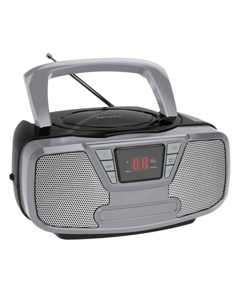 Riptunes Bluetooth Portable CD Boombox with AM/FM Radio, Black