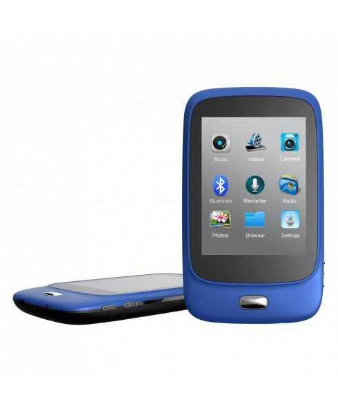 Riptunes 8GB MP3 Player with Bluetooth, 2.8-inch LCD and microSD Card Slot, Blue