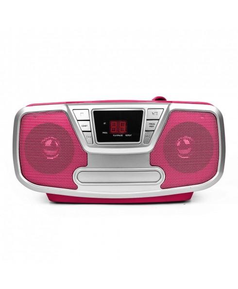 Riptunes CDB-232BT AM/FM CD Boombox with Bluetooth, Pink