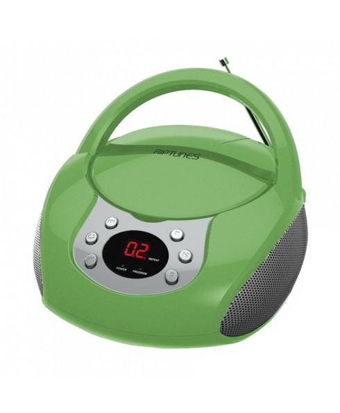 Riptunes Portable CD AM/FM Boombox, Green