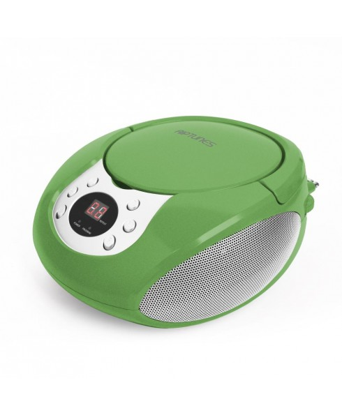 Riptunes Portable CD AM/FM Boombox, Green