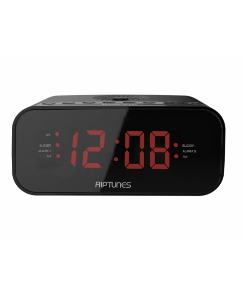 Riptunes Digital AM FM Clock Radio w/ Dual Alarm