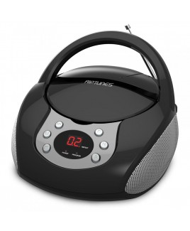 Riptunes Portable CD AM/FM Boombox, Black