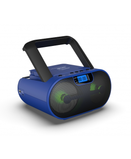 Riptunes Blue CD MP3 Stereo Boom Box AM/FM Radio with Bluetooth®