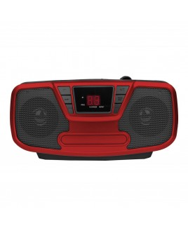 Riptunes Bluetooth Portable CD Boombox with AM/FM Radio, Red