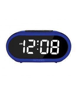 Riptunes 1.4-Inch Digital Alarm Clock w/ 5 Alarm Sounds - Blue