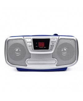 Riptunes Bluetooth Portable CD Boombox with AM/FM Radio, Blue