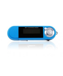 4GB MP3 Player with Digital Voice Recorder Blue