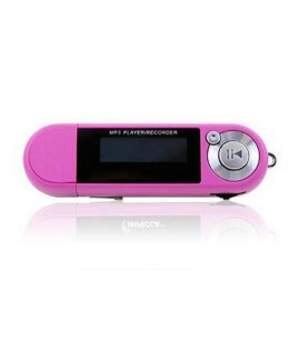 4GB MP3 Player with Digital Voice Recorder Pink