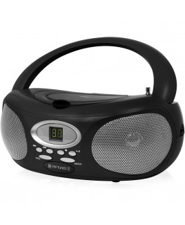 Riptunes AM/FM CD Boombox - Black