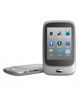 Riptunes 8GB MP3 Player with Bluetooth, 2.8-inch LCD and microSD Card Slot, Silver