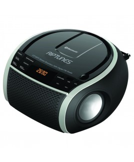 Riptunes Elite CDB-234BT Bluetooth CD/MP3 Stereo Boombox with FM Radio