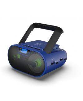 Riptunes Blue CD MP3 Stereo Boom Box AM/FM Radio with Bluetooth®