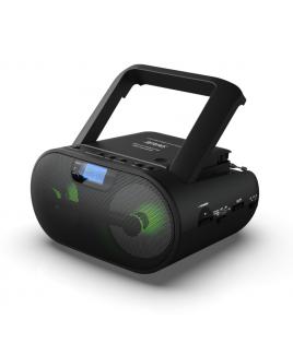 Riptunes Black CD MP3 Stereo Boom Box AM/FM Radio with Bluetooth®