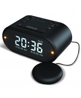Riptunes Vibrating Alarm Clock - Black