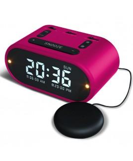 Riptunes Vibrating Alarm Clock - Pink