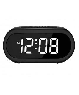 Riptunes 1.4-Inch Digital Alarm Clock w/ 5 Alarm Sounds - Black